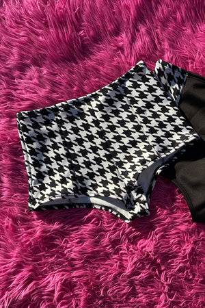 ♡XSMALL- Houndstooth Punq Booty Shorts