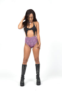 Pink Leopard High Waist Bottoms