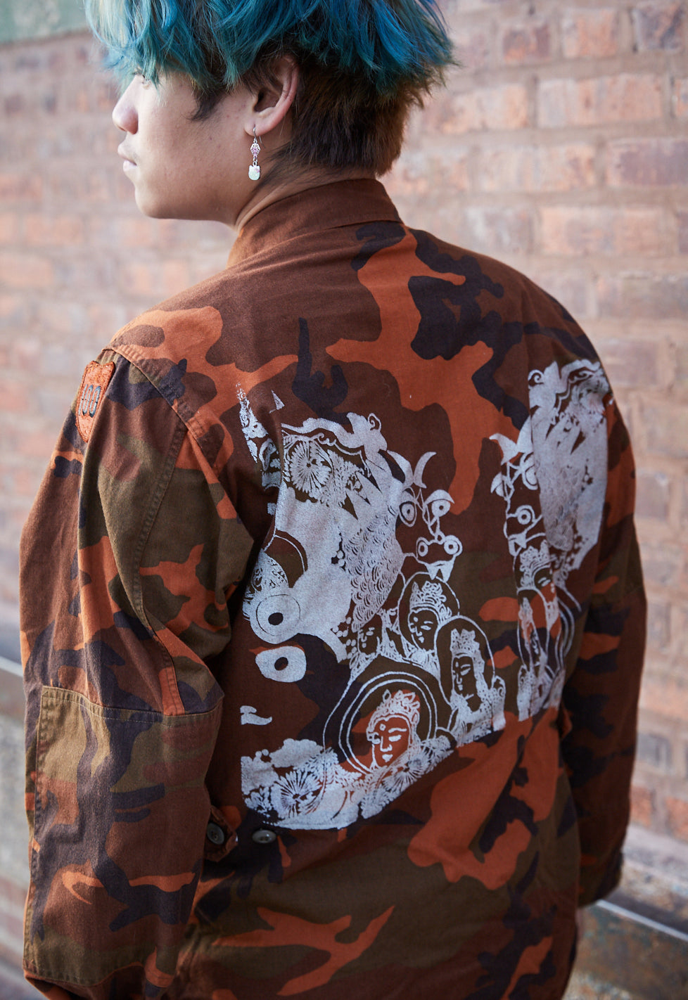 Orange Dragon Camo Jacket