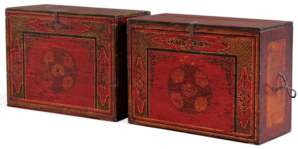 Some rare Tibetan and Mongolian Furniture on our next shipment of Chinese antiques