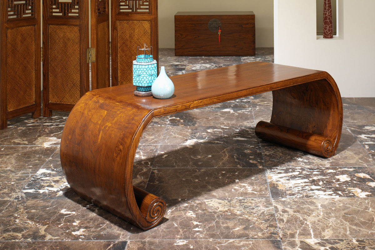 Create a statement centrepiece with a Chinese coffee table
