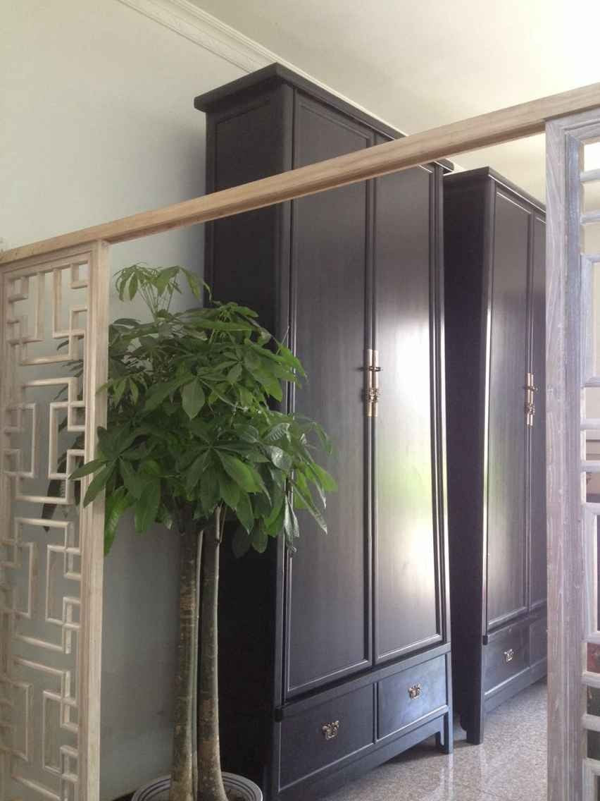 Large Tapered Cabinets in Black Lacquer