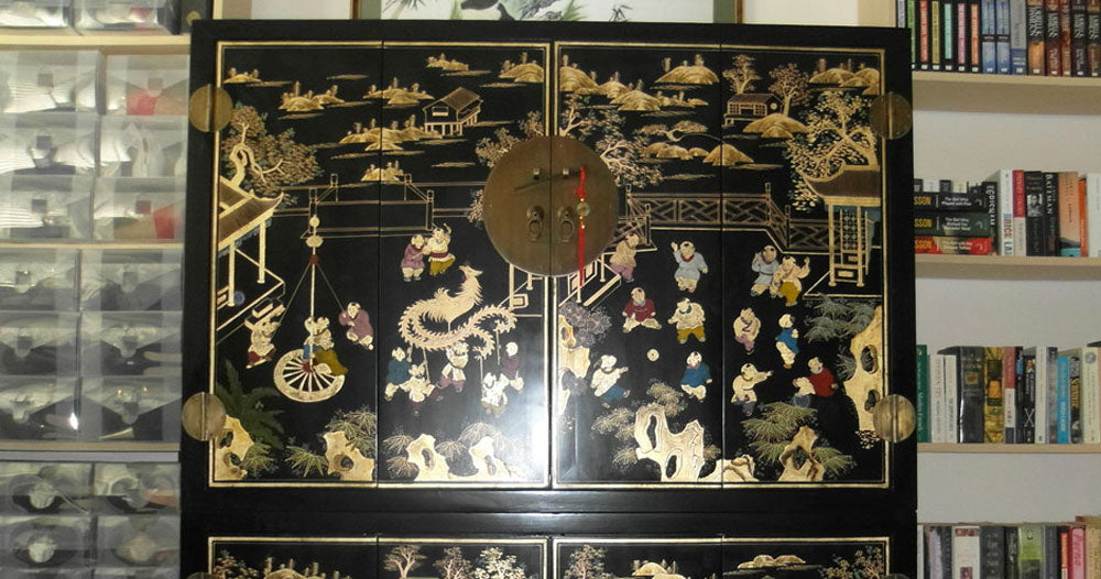 A home office, Chinese style – made to order for a very happy customer!