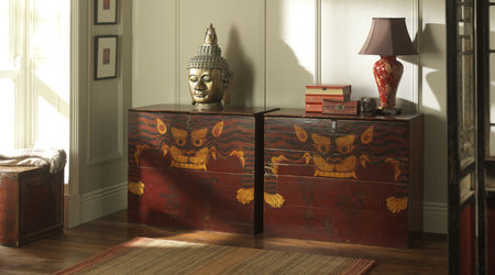 Antique Chinese Tiger Chests