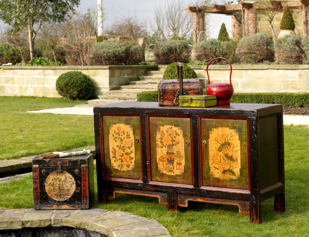 Mongolian Antique Painted Sideboard