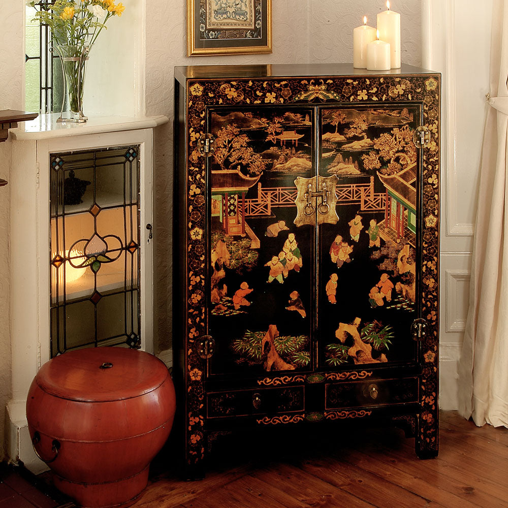 Black Shanxi Painted Cabinet