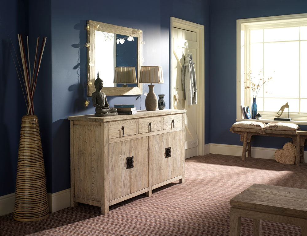 Chinese Country Sideboard and Mirror