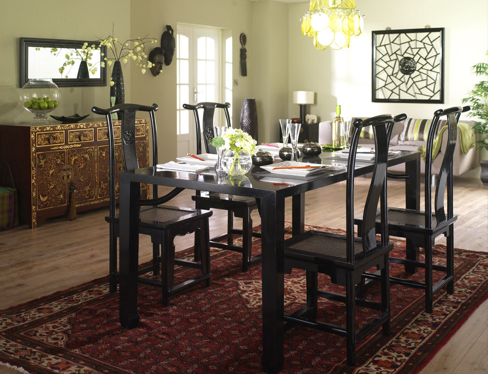 Black Lacquer Dining Set