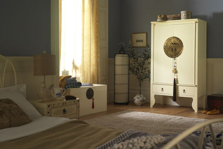 Cream Lacquer Bedroom Furniture