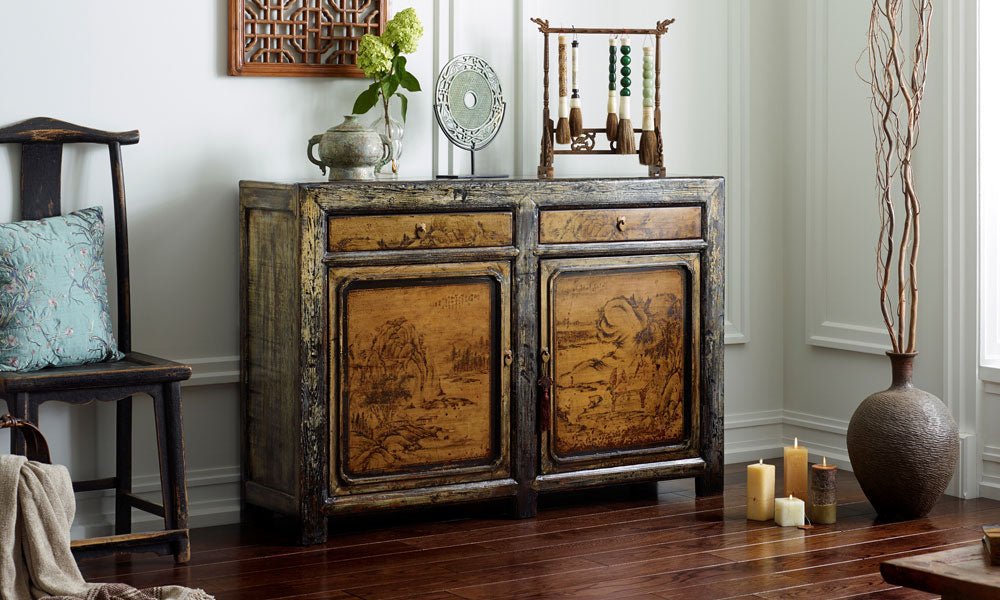 China Seasons Painted Sideboard
