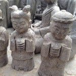 Chinese stone figures at Beijing market