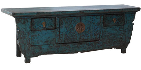 Blue Chinese sideboard