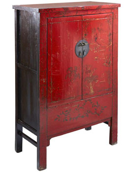 Shanxi Red Lacquer Cabinet
