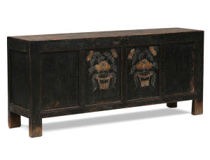 Chinese black painted sideboard