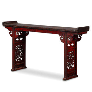 Red lacquer Chinese altar table