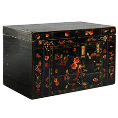 Painted Antique Opera Chest