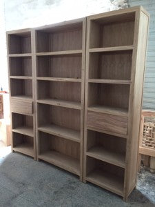 Bookshelves woodwork