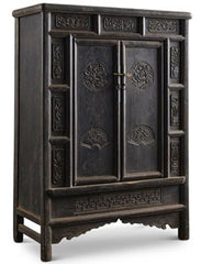 Carved Antique Chinese Shanxi Cabinet