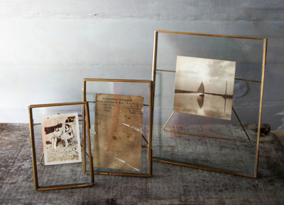Danta Brass Photo Frames