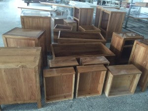 Furniture waiting for lacquering