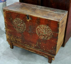 Antique Mongolian Trunk