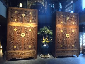 Nanmu carved cabinets