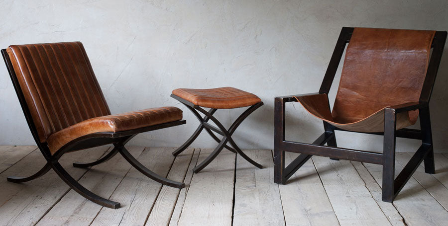 Narawan Iron and Leather Chairs