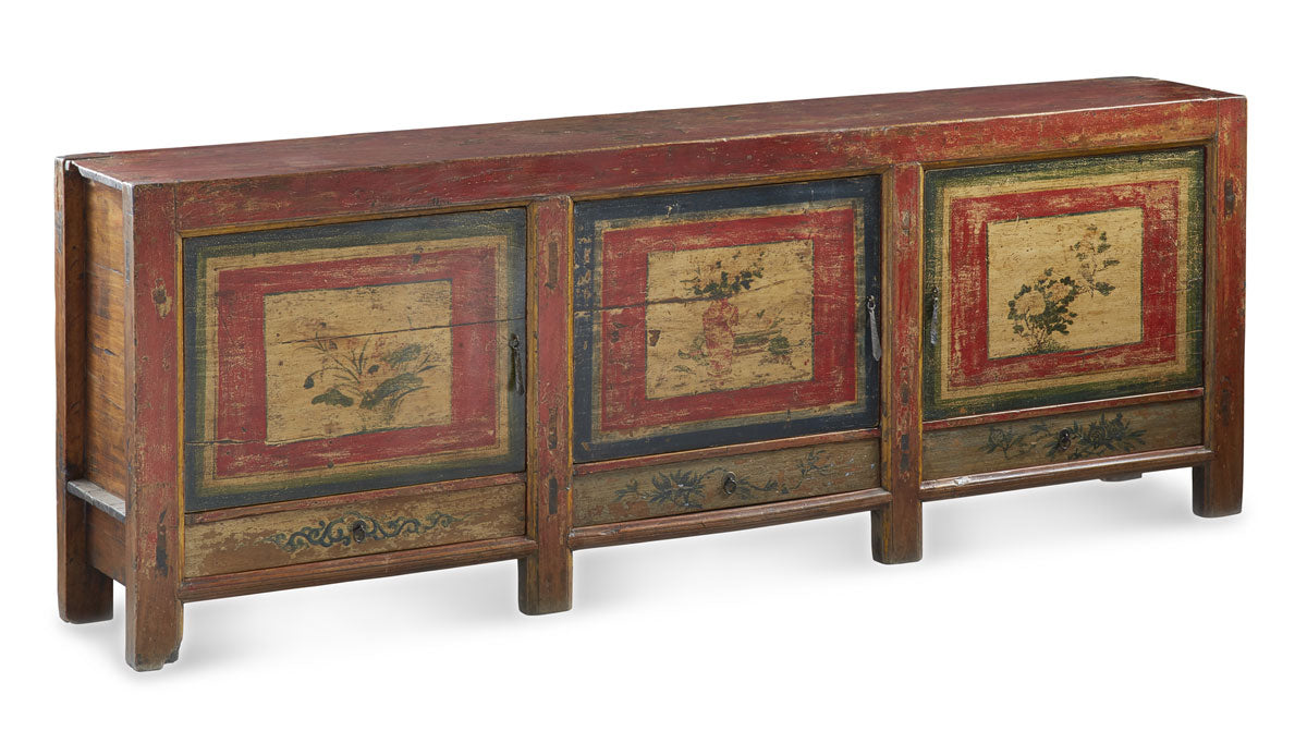 Painted Chinese Sideboard