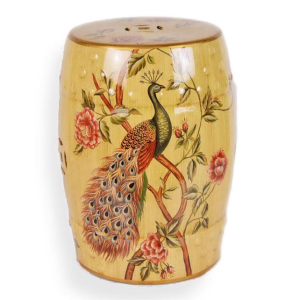 Peacock Ceramic Stool