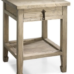 Side table in natural wood finish