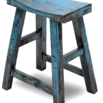 Blue Chinese Stool