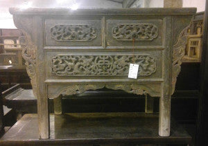 Carved Table with Drawers, Shaanxi