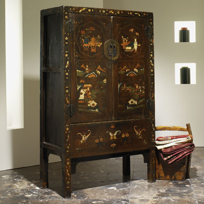 Shanxi Painted Wedding Cabinet