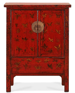 Shanxi Antique Red and Gold Cabinet