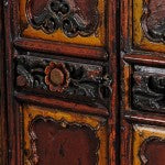 Detail of Carved Temple Cabinet from Shaanxi Province