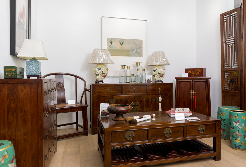 Shimu pop-up shop, classical Chinese furniture