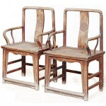 Southern Official Armchairs in Elm, Beijing
