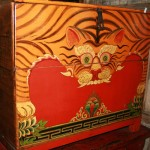 Antique 'tiger chest from the Qinghai and Tibet border