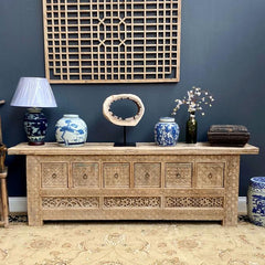 Carved Six Drawer Sideboard