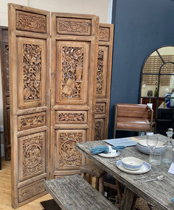 Chinese antique carved screen