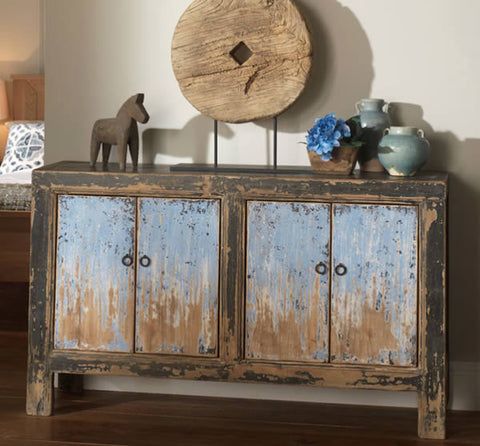 Blue and Black Sideboard