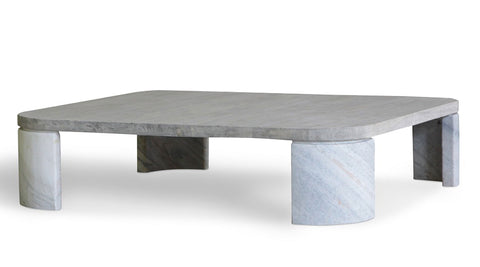 Coffee table with marble legs