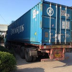Our container arrives