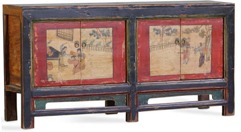 Gansu antique grain cabinet