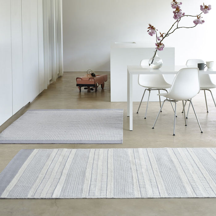 Belle Wool Rug, Soft Grey