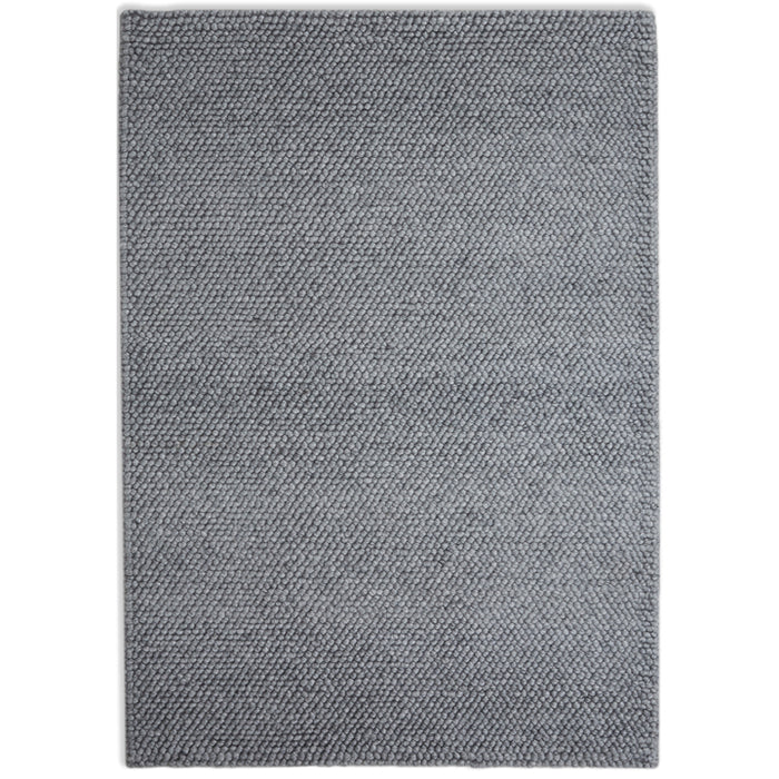 Loopy Wool Rug, Grey