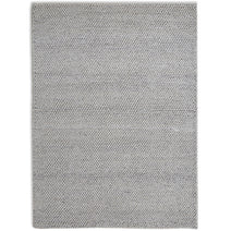 Loopy Wool Rug, Silver