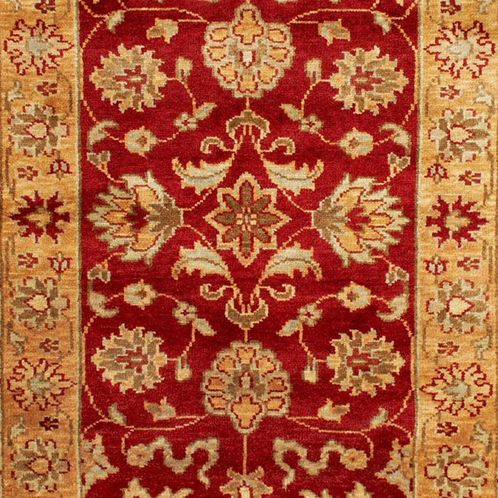 Taj Agra Wool Rug, Red and Gold