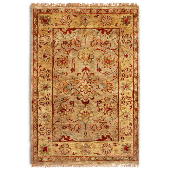Taj Agra Wool Rug, Gold