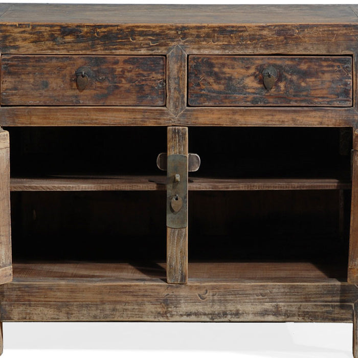 Chinese Elm End Cabinet